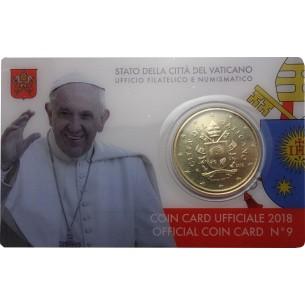Vatican 2018 - 50 cents Armoiries du Pâpe François BU FDC Coincard n°9
