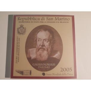 SAN MARINO 2005 - BU 2€ EUROS commémorative - GALILEO GALILEI - blister scellé