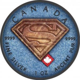 CANADA Maple Leaf 2016 5$ dollar SUPERMAN JEANS 1Oz Silver Coin BLACK RUTHENIUM.