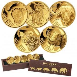 Cameroun 2018 - 5 x 100 Francs 2013 - 2018 Big Five Series ( 5 coins ) - Or Gold