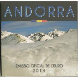 Andorre 2014 - Set Euro Complet (8 pièces) - Tirage Limité - 1 Cent à 2€ - Rare