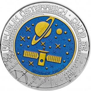 AUTRICHE 25 EUROS Cosmology 2015 Silver - Niobium KOSMOLOGIE Austria