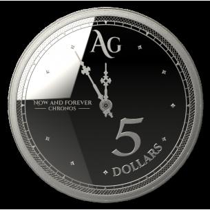 TOKELAU $5 Dollars 2019 CHRONOS 2019 - The Time 1 oz Silver coin Brillant Uncirculated