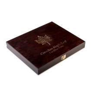 Wooden Case Maple Leaf 1 Oz Display 20 Silver Coins Holder