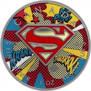 Canada 2016 $5 Superman Glasses 1 Oz Silver 999 Coin LIMITED