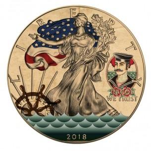 TATTOO SAILORS & MERMAIDS USA 2018 1$ Silver Eagle 1 Oz Silver Coin