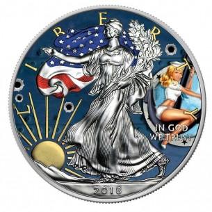 PIN UP SAILOR USA 2018 1$ Liberty Silver Eagle 1 Oz Silver Coin
