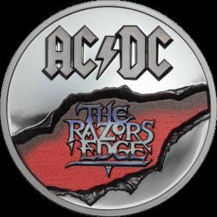 RAZORS EDGE AC/DC 2 Oz Silver Coin 10$ Cook Islands 2019