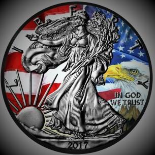 The Bald Eagle Usa 2017 1 Liberty Silver Eagle 1 Oz Silver Ruthenium Coin
