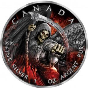 2017 Canada $5 - Grim Reaper Armageddon Maple Leaf Ruthenium 1oz 999 silver coin