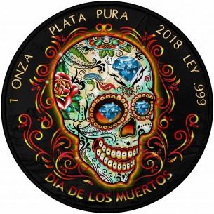 DIA DE LOS MUERTOS 2018 - 1 oz Pure Silver Mexican Libertad Coin Black Ruthenium