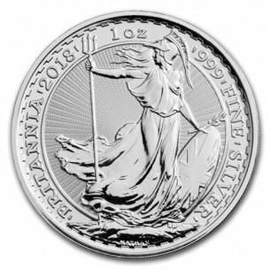 Britannia £2 2018 - 1 oz Argent -  Grande Bretagne / UK - 1 ONCE 999 SILVER